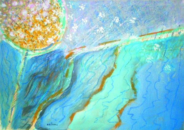 Dandelion Drift Painting